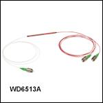 Wavelength Division Multiplexers: 1300 nm / 650 nm