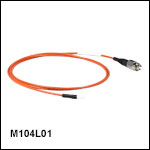 Ø200 µm Core, 0.50 NA, FC/PC to Ferrule Patch Cable with Ø2.5 mm Ferrules, PVC Jacket