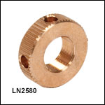 1/4in-80 Bronze Locking Nut