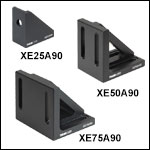 Right-Angle Brackets for 25, 50, & 75 mm Rails