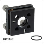 Ø1in Kinematic Mirror Mounts with Piezo Adjusters, ±275 µrad Piezo Adjustment