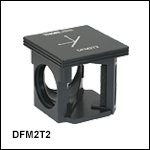 60 mm Cage-Compatible, Kinematic Beam-Turning Cube Base and Insert for Right-Angle Optics