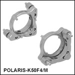 Ø50 mm Polaris Low-Distortion Kinematic Mount, 2 Adjusters