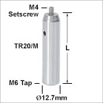 Ø12.7 mm Stainless Steel Optical Posts - Metric