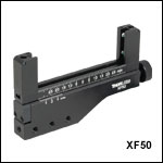 One-Axis Translation Mount for Rectangular Mounts