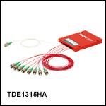 1310 / 1550 nm 1x8 Dual-Window Fiber Optic Splitters