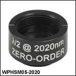 Ø1/2in Zero-Order Half-Wave Plates, SM05-Threaded Mounts