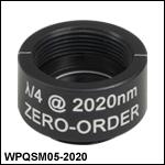 Ø1/2in Zero-Order Quarter-Wave Plates, SM05-Threaded Mounts