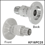 KF16 Flange to Double Ferrule Compression Fitting Adapters