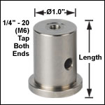Ø1.0in (Ø25 mm) Pedestal Posts, 1/4in-20 (M6) Tap