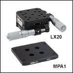 Two-Axis 25 mm Translation Stage and Adapter Plate