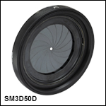 SM3-Threaded, Ring-Actuated Iris Diaphragm