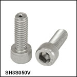 Vented, Vacuum-Compatible 8-32 Cap Screws
