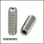 Vented, Vacuum-Compatible 8-32 Setscrews