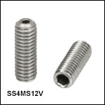 Vented, Vacuum-Compatible M4 x 0.7 Setscrews