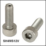 Vented, Vacuum-Compatible M4 x 0.7 Cap Screws