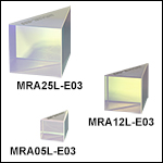 Leg-Coated Right-Angle Prism Mirrors, Dielectric Coating (750 nm - 1100 nm)