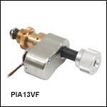 Vacuum-Compatible Piezo Inertia Actuator with 13 mm Travel