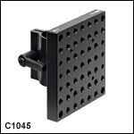 Ø1in (Ø25 mm) Post Mounting Clampwith 3.50in x 3.50in (87.5 mm x 87.5 mm) Mounting Plate