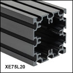 75 mm Square Construction Rails