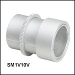 Ø1in Vacuum-Compatible Lens Tube with Rotating Optic Adjustment