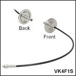 KF40 Flange Fiber Feedthrough, 0.3 - 5.5 µm