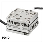 20 mm XY Stage with Piezoelectric Inertia Drive