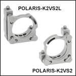 Polaris® Ø2in Vertical Drive Mirror Mount, 2 Vertical-Drive Adjusters, Monolithic Optic Retention