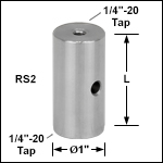Ø1in Pillar Posts with 1/4in-20 Taps
