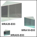 Right-Angle Prism Mirrors, Broadband Dielectric Coating (750 nm - 1100 nm)