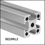 25 mm Square Construction Rail, Raw Extrusion