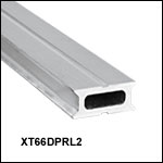 XT66 66 mm Double Dovetail Rail, Raw Extrusion