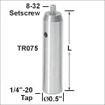 Ø1/2in Stainless Steel Optical Posts - Imperial