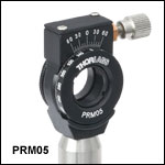 High-Precision Rotation Mount for Ø1/2in Optics