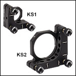 Ø1in and Ø2in Precision Kinematic Mirror Mounts