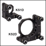 Ø1in and Ø2in Precision Kinematic Mirror Mounts- Differential Adjusters