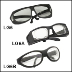 Laser Safety Glasses: 93% Visible Light Transmission