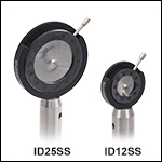 Stainless Steel, Post-Mounted Iris Diaphragms