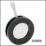 Stainless Steel Iris Diaphragms Without Mounting Holes