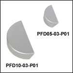 Silver D-Shaped Mirrors (450 nm - 20 µm)