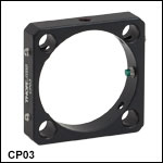 30 mm Cage Plate with 35 mm Clear Aperture