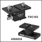 Multi-Axis Flexure Stage Accessories: Axial Force/Touch Sensor Platform