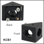 30 mm Cage Right-Angle Kinematic Mirror Mount with Tapped Cage Rod Holes