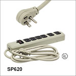 6-Outlet Power Strip - US Plugs