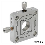Cage XY Flexure Adjustment Plate