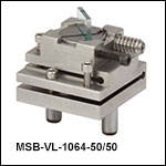 Adjustable Non-Polarizing Plate Beamsplitter Modules, 50:50