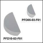 UV-Enhanced Aluminum D-Shaped Mirrors (250 - 450 nm)