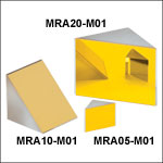 Gold-Coated Right Angle Prism Mirrors, 800 nm - 20 µm