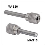 M3 x 0.25 Adjustment Screws with Knob