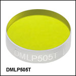 Longpass Dichroic Mirrors/Beamsplitters: 505 nm Cutoff Wavelength